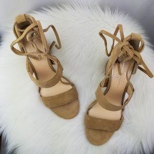 Jessica Simpson Suede Harphor Ankle Tie Sandals